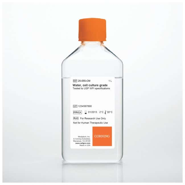 Corning™ Cell Culture Grade Water Tested to USP Sterile Water No Cap; 1 L Corning™ Cell Culture Grade Water Tested to USP Sterile Water