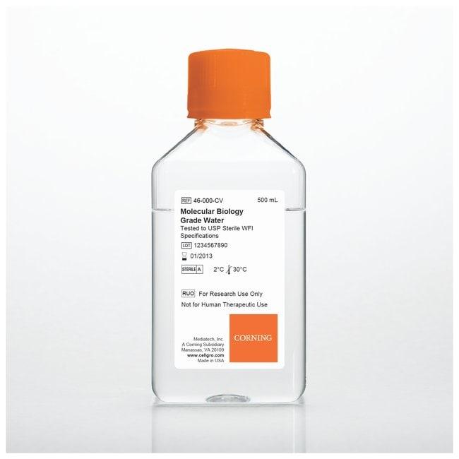 Corning™Wasser in Zellkultur-Qualität,  getestet auf USP Sterilwasser: Wasser Chemicals