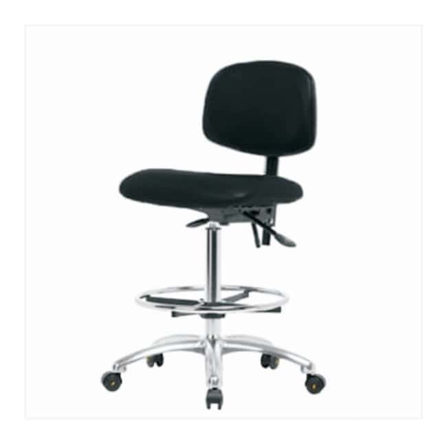 FisherbrandVinyl ESD Chair - High Bench Height with Seat Tilt, Chrome Foot