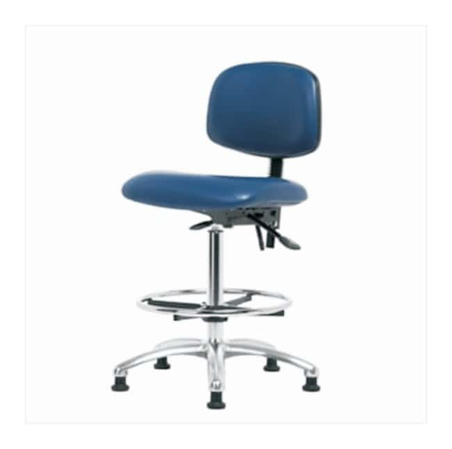 Fisherbrand High Bench Height Vinyl ESD Chair  With tilt seat; No arms;