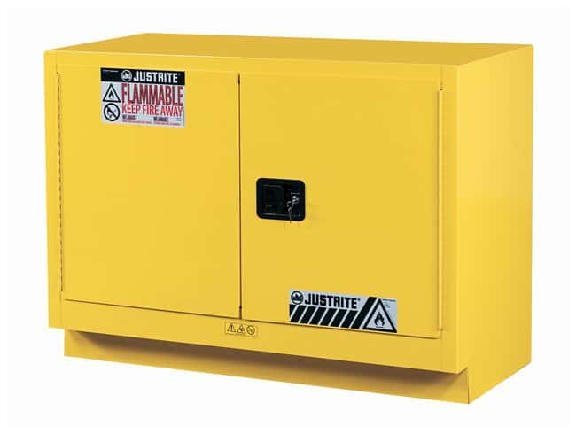 Justrite 23 Gallon Under Fume Hood Solvent/Flammable Liquid Safety Cabinet
