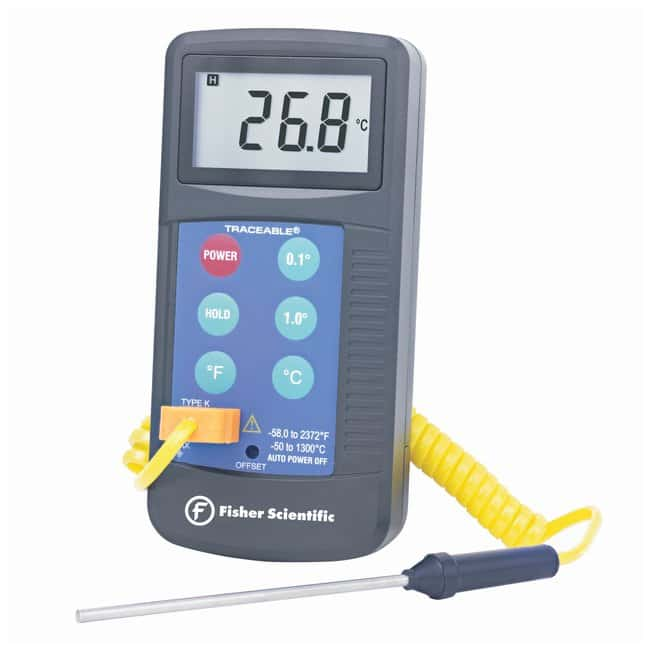 Fisherbrand™ TRACEABLE® WORKHORSE THERMOMETER Workhorse thermometer; Range; -50° to +1300°C Digitale Thermometer