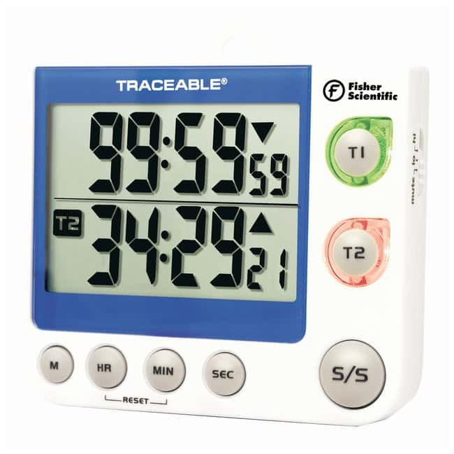 Fisherbrand™ Traceable™ Flashing LED Big-Digit Dual Channel Timer <img src=