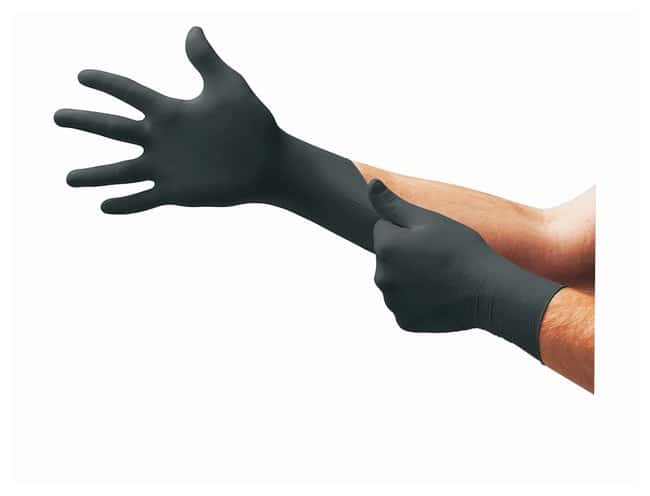 Microflex MidKnight Black Nitrile Exam Gloves  Small:Teaching Supplies