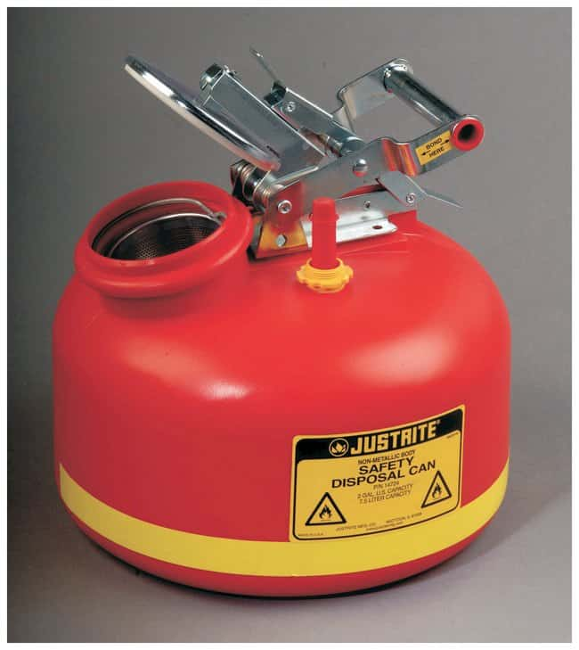 Justrite Safety Can For Liquid Disposal :Gloves, Glasses and Safety:Hazardous
