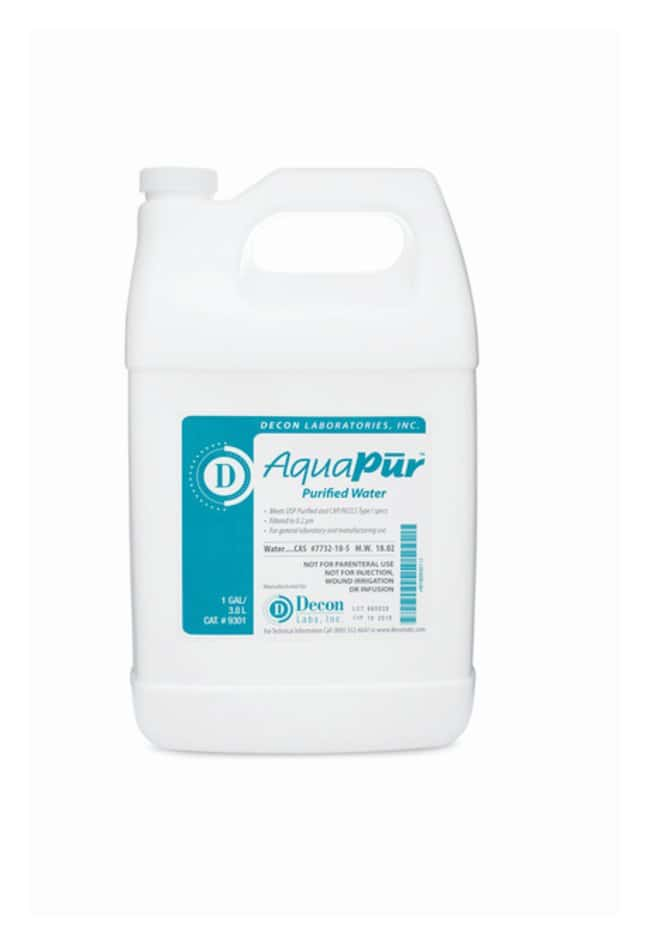 Decon™ AquaPur™ Purified USP-Grade Water