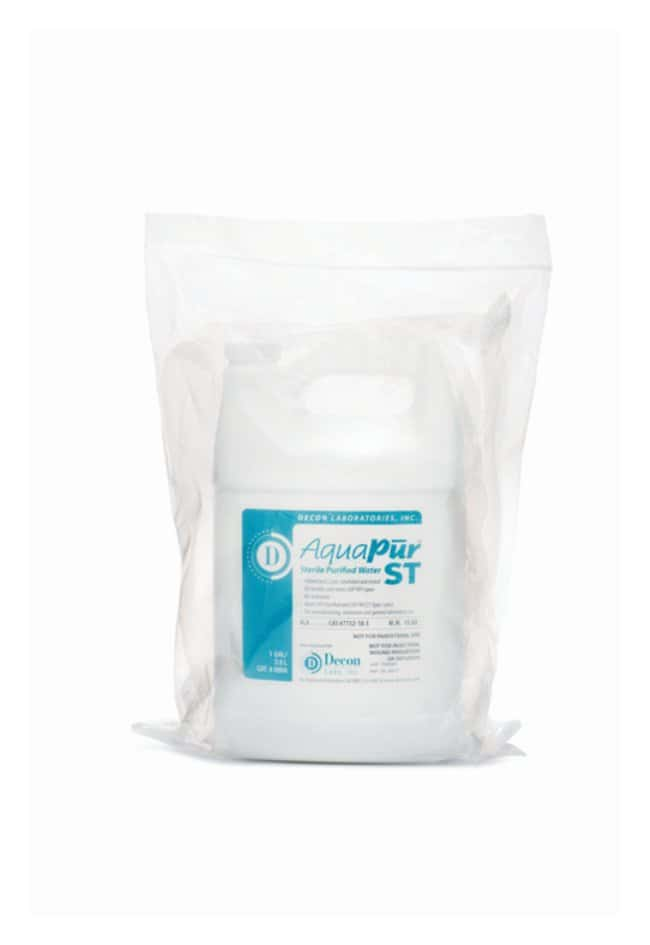 Decon AquaPur ST Sterile, Purified USP-Grade Water 1 gal. (3.8L):Chemicals