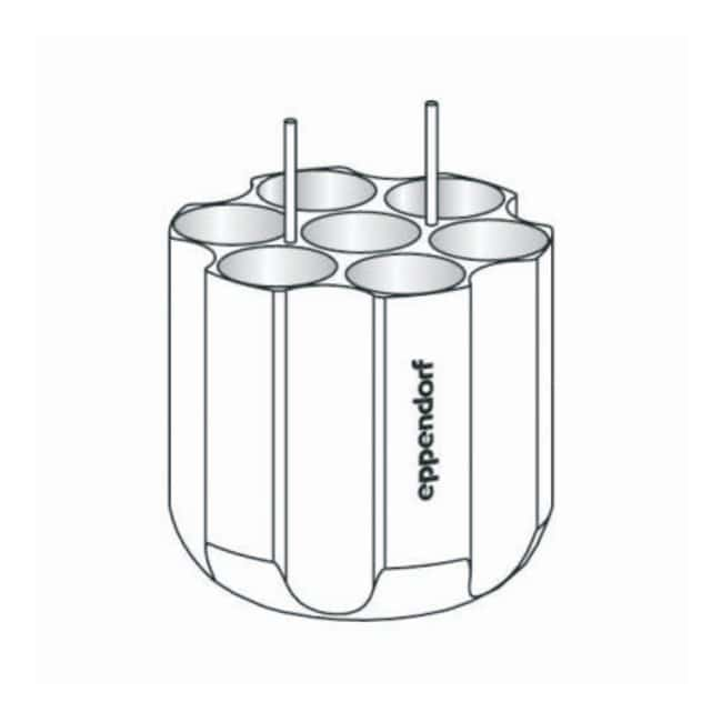 Eppendorf S-4-104 Rotor Adapters  For 7 x 50mL conical tubes:Centrifuges
