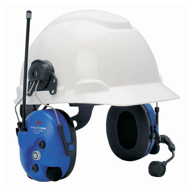 3m hard hat mount for peltor lite com pro ii uhf two way radio
