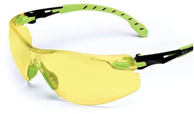 3M Solus 1000 Series Safety Glasses Green and black frame; Amber lens:Gloves,