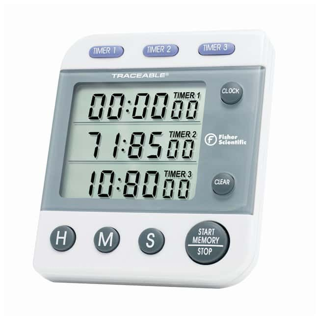 fisherbrand traceable three line alarm timer display triple line lcd rh fishersci com fisher scientific stopwatch manual fisher scientific traceable nano timer manual