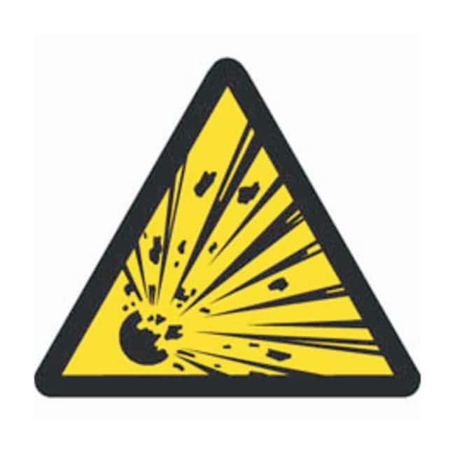 Brady Warning Labels, Pictogram: Explosive Material Size: 5.08W x 5.08cm