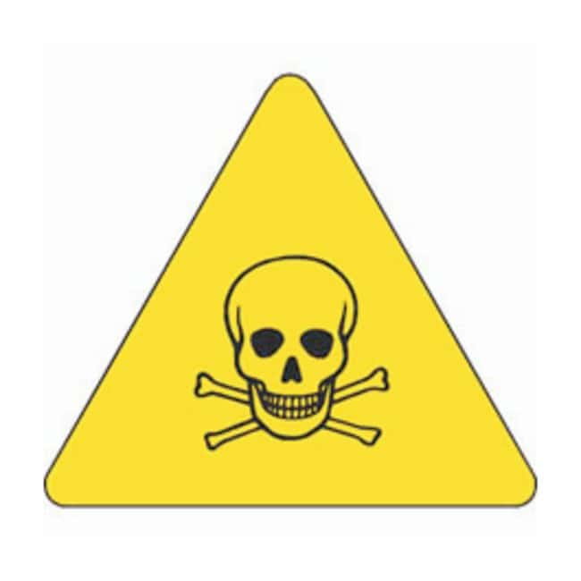 Brady Warning Labels, Pictogram: Toxic Material Size: 10.16W x 10.16cm