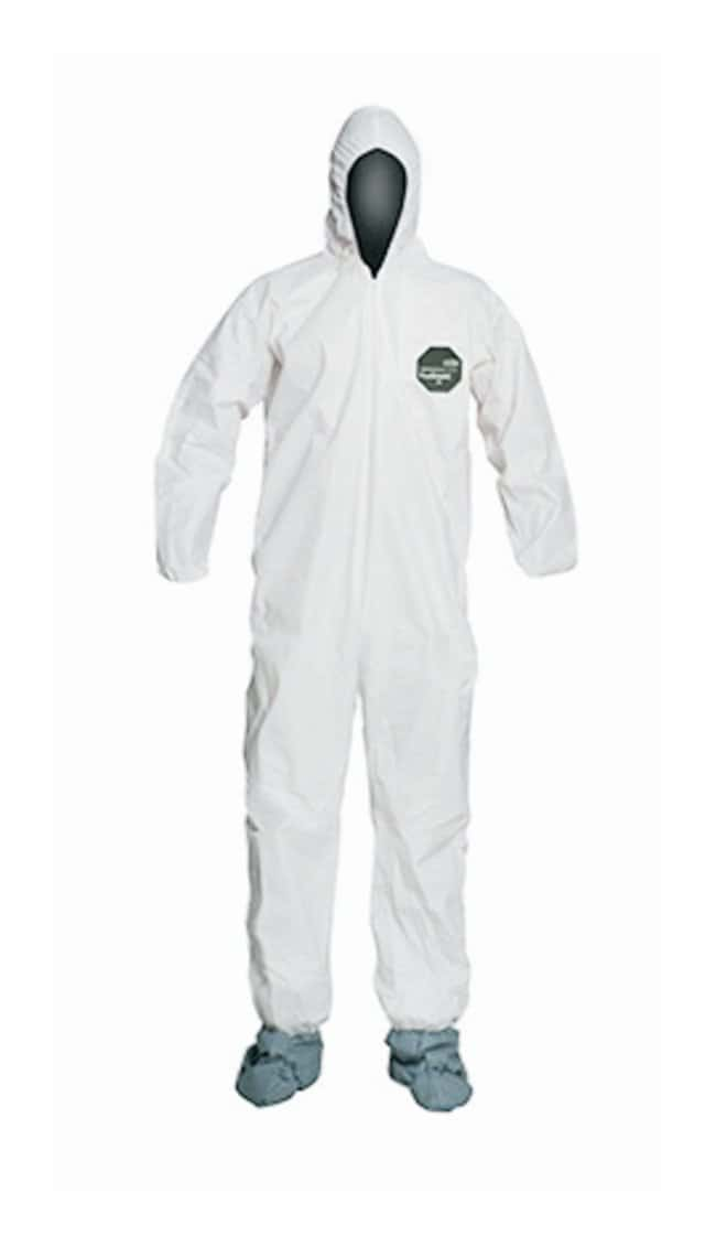 DuPont ProShield 50 Coveralls with Hood and Boot Medium:Gloves, Glasses