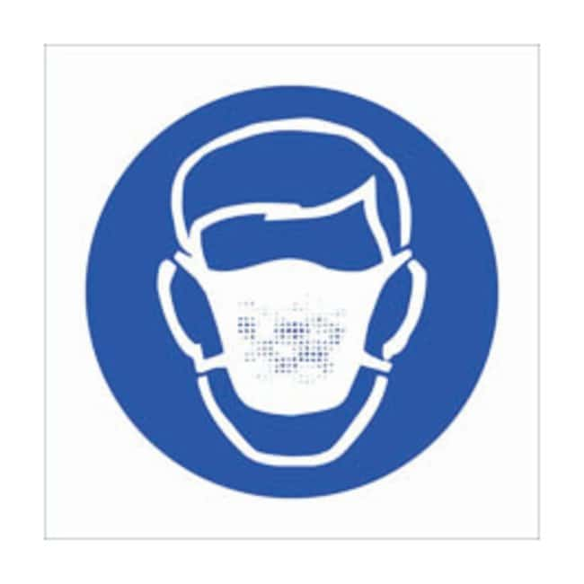 Brady RTK Pictogram Labels, Dust Mask:Gloves, Glasses and Safety:Facility