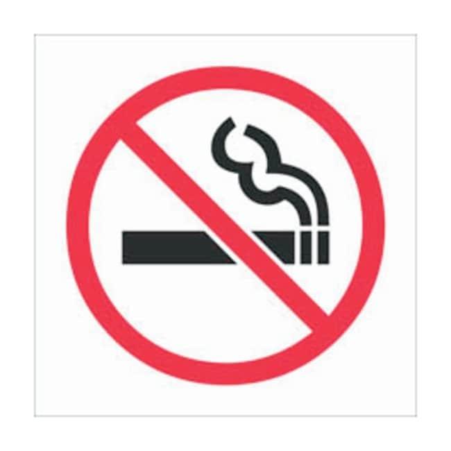 Brady RTK Pictogram Labels, No Smoking:Gloves, Glasses and Safety:Facility