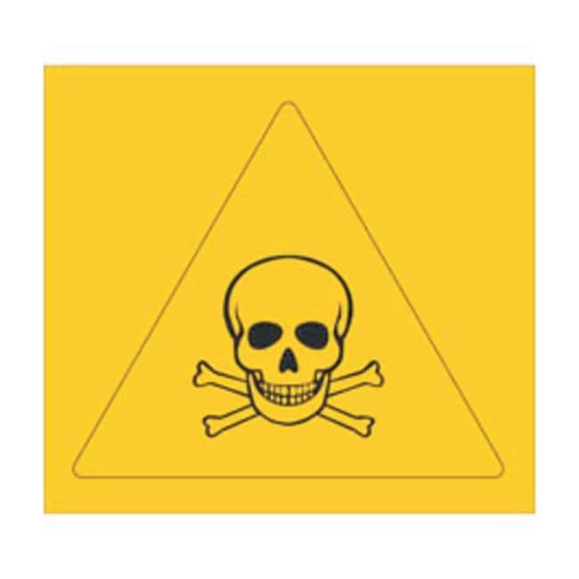 Brady RTK Pictogram Labels, Poison Size: W x H: 5.7 x 5.7cm (2.25 x 2.25