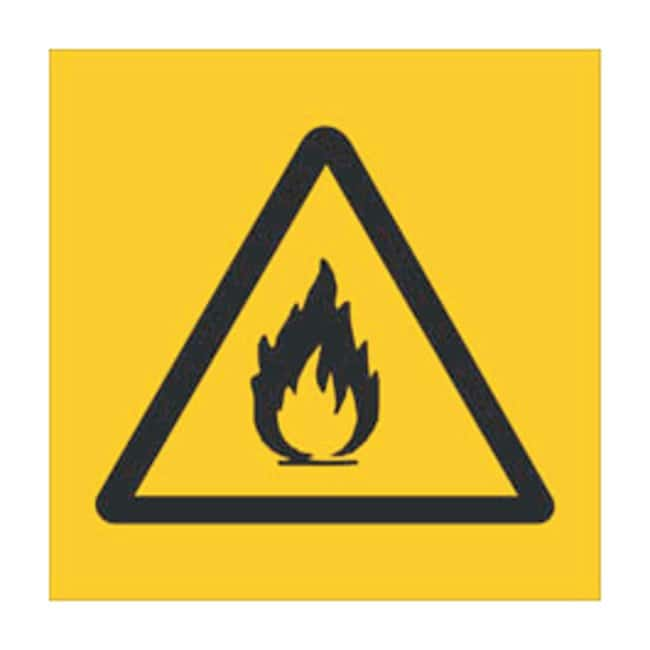 Brady RTK Pictogram Labels, Flammable Size: W x H: 3.8 x 3.8cm (1.5 x 1.5