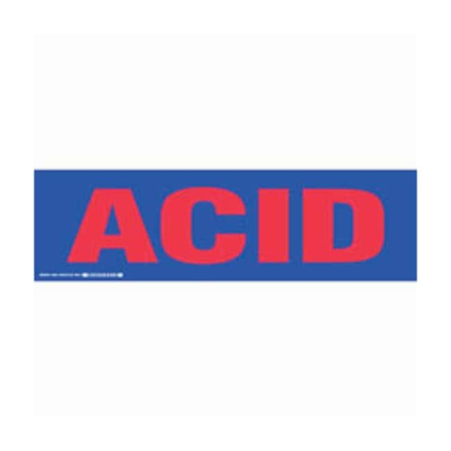 Brady Cabinet Labels: ACID:Gloves, Glasses and Safety:Facility Maintenance