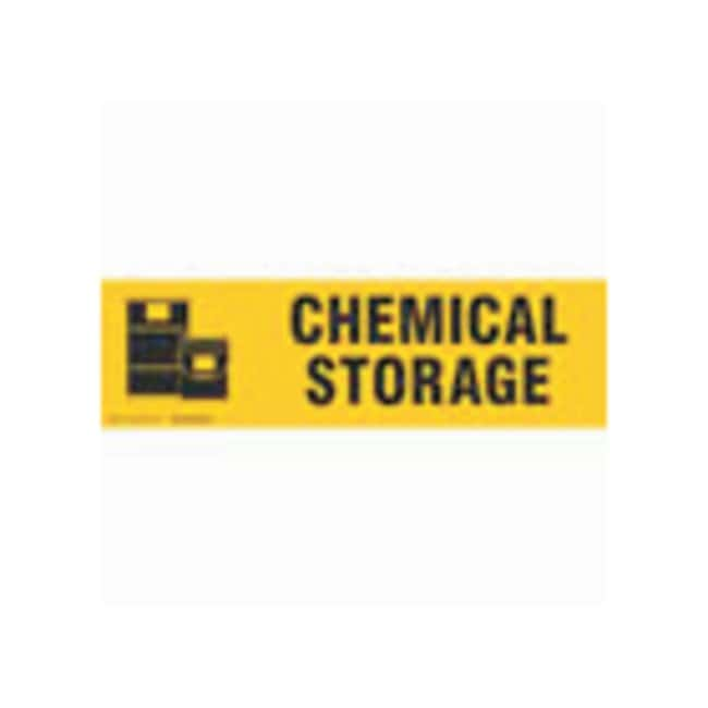 Brady Cabinet Labels: CHEMICAL STORAGE:Gloves, Glasses and Safety:Facility