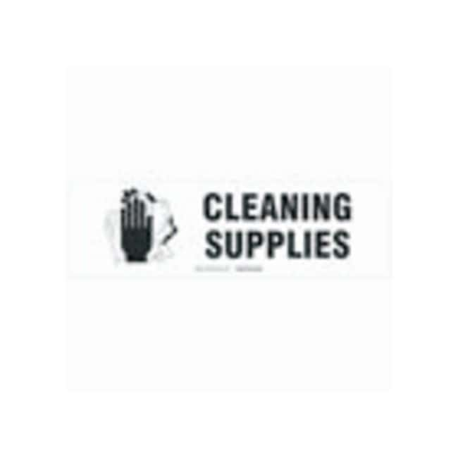 Brady Cabinet Labels: CLEANING SUPPLIES Size: 30.4W x 8.89cm H (12 x 3.5
