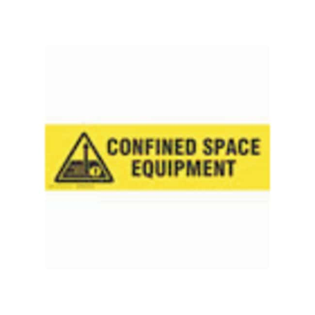 Brady Cabinet Labels: CONFINED SPACE EQUIPMENT Size: 30.4W x 8.89cm H (12