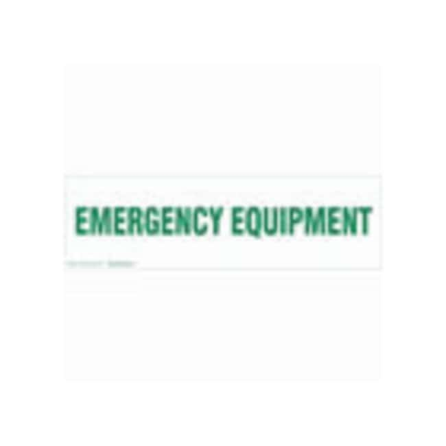 Brady Cabinet Labels: EMERGENCY EQUIPMENT Size: 60.9W x 17.7cm H (24 x