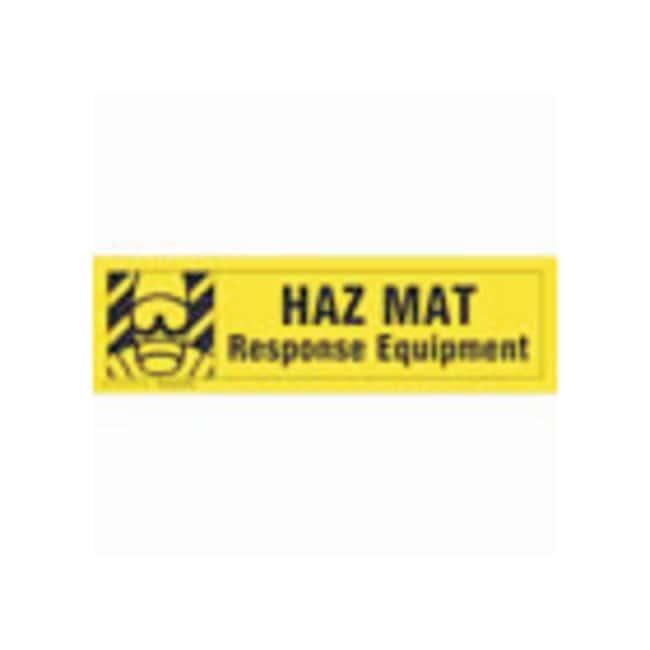 Brady Cabinet Labels: HAZ MAT RESPONSE EQUIPMENT Size: 60.9W x 17.7cm H
