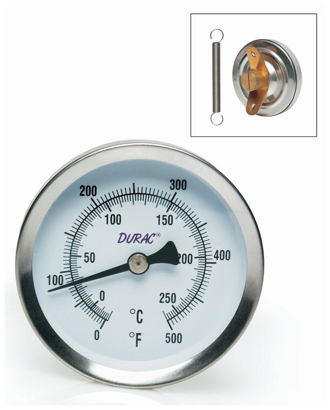 H-B Instrument Durac Bi-Metallic Surface Temperature Thermometers: Stainless