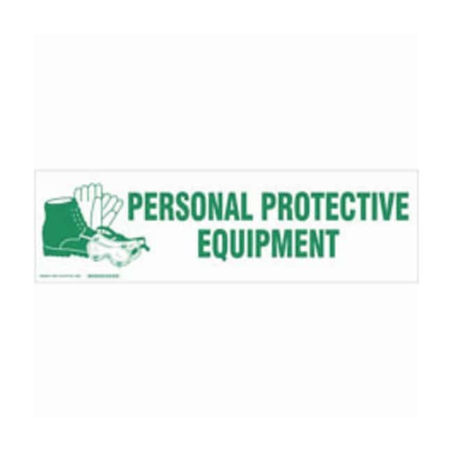 Brady Cabinet Labels: PERSONAL PROTECTIVE EQUIPMENT:Gloves, Glasses and