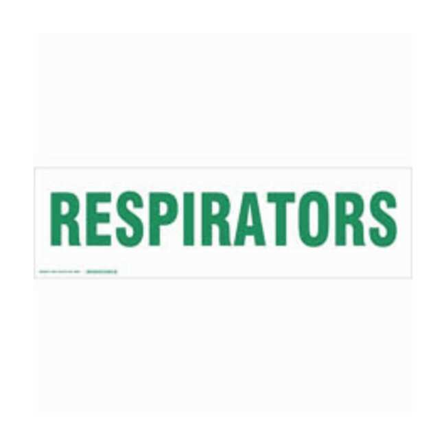 Brady Cabinet Labels: RESPIRATORS:Gloves, Glasses and Safety:Facility Maintenance