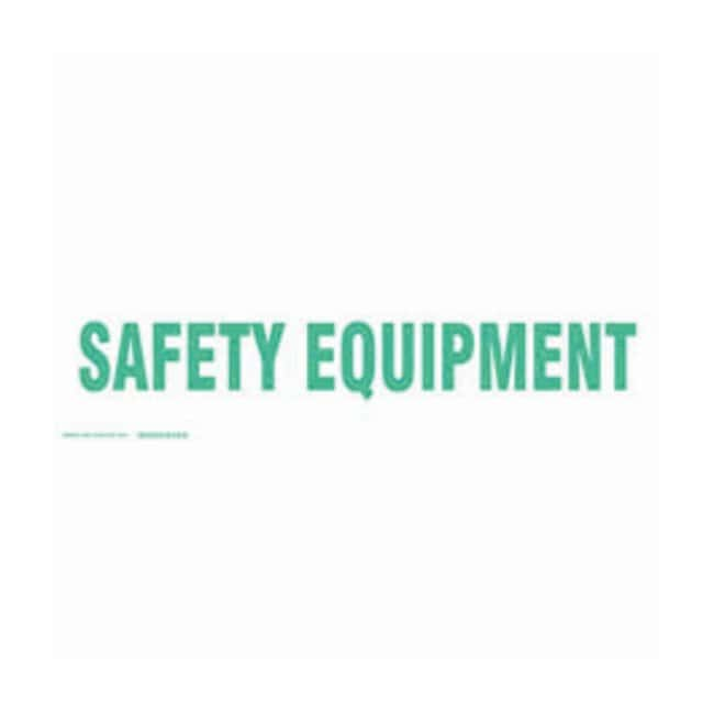 Brady Cabinet Labels: SAFETY EQUIPMENT Size: 60.9W x 17.7cm H (24 x 7 in.):Gloves,