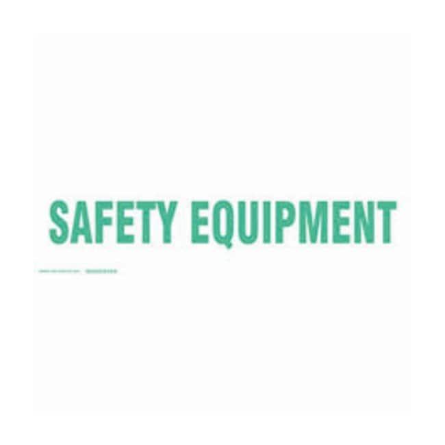 Brady Cabinet Labels: SAFETY EQUIPMENT Size: 30.4W x 8.89cm H (12 x 3.5