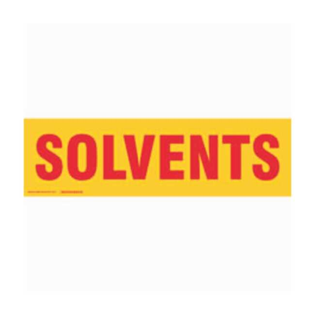 Brady Cabinet Labels: SOLVENTS:Gloves, Glasses and Safety:Facility Maintenance