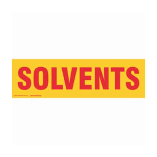Brady Cabinet Labels: SOLVENTS Size: 60.9W x 17.7cm H (24 x 7 in.):Gloves,