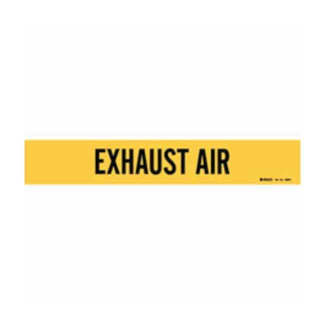 Brady Duct Markers: EXHAUST AIR:Gloves, Glasses and Safety:Facility Maintenance