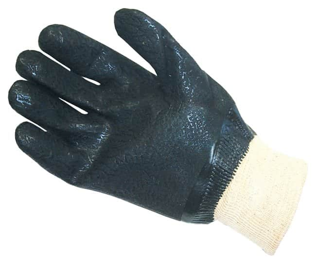 Fisherbrand Double-Dipped PVC Gloves: Gauntlet Length Rough acid grip finish;
