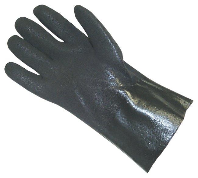 Fisherbrand Double-Dipped PVC Gloves: Gauntlet Length Sandy finish; Interlock