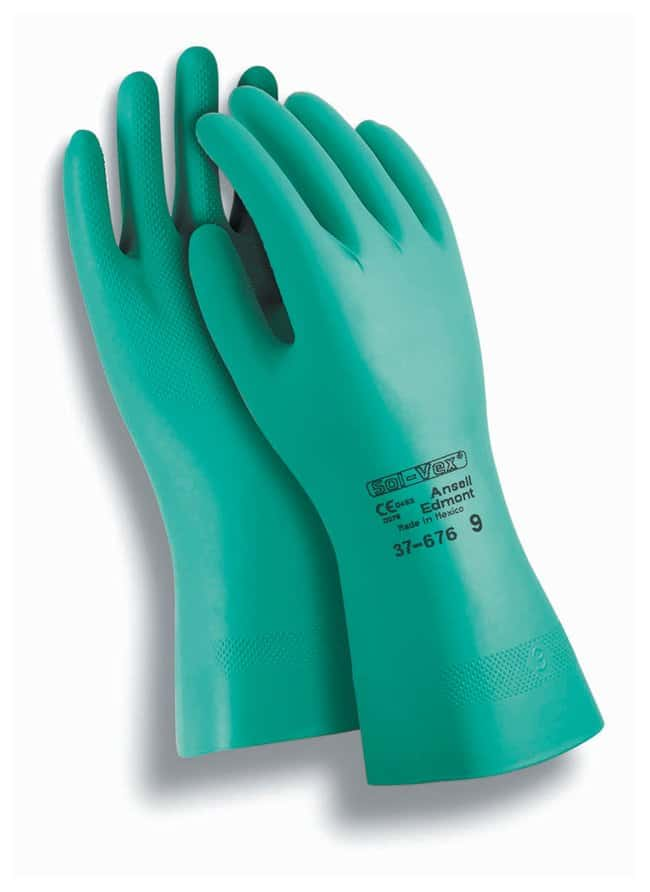 Ansell™ Sol-Knit™ II Nitrile Gloves Thickness: 15mil; Flock-lined; Size: 7 products