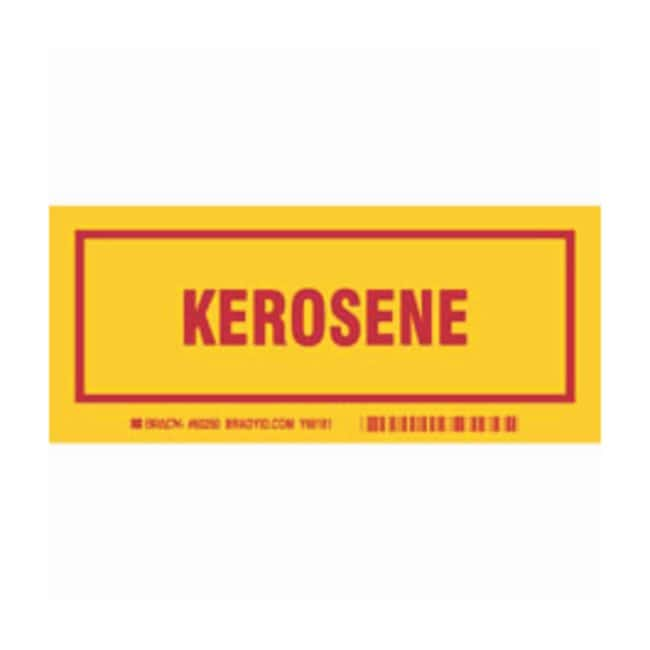 Brady Container Label: KEROSENE Legend: KEROSENE:Gloves, Glasses and Safety