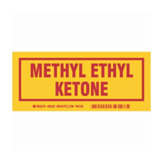 Brady Container Label: METHYL ETHYL KETONE Legend: METHYL ETHYL KETONE:Gloves,