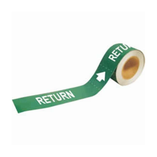 Brady Self-Sticking Pipe Marker Labels: RETURN:Gloves, Glasses and Safety:Facility