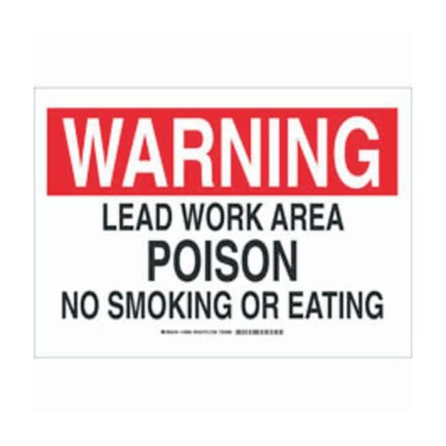 Brady Polyester Warning Sign: LEAD WORK AREA POISON NO SMOKING OR EATING