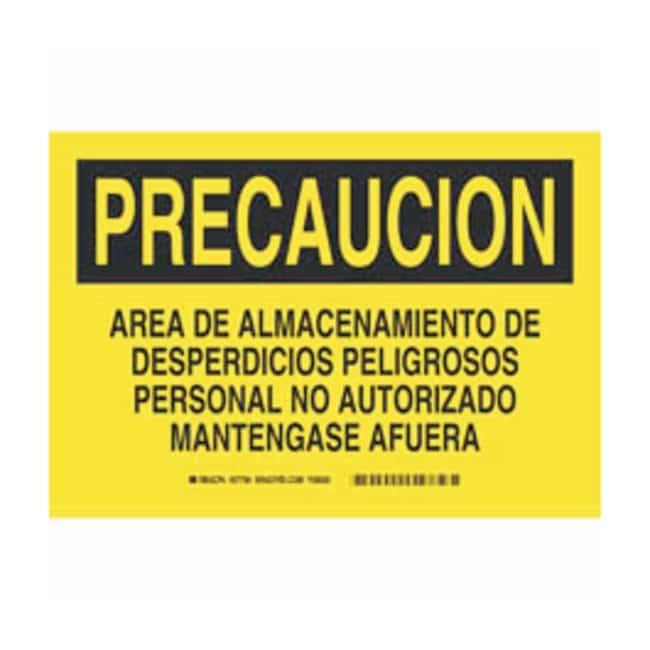Brady Polyester Precaucion Sign: AREA DE ALMACENAMIENTO DE DESPERDICIOS