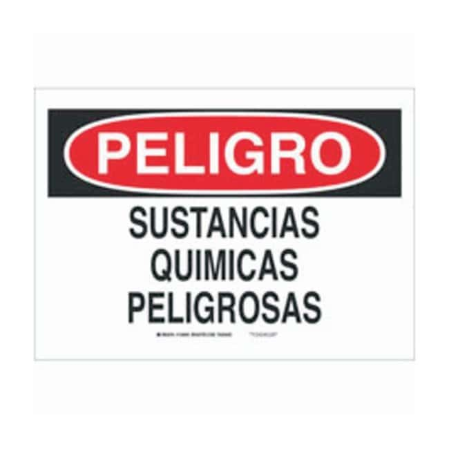 Brady Aluminum Peligro Sign: SUSTANCIAS QUIMICAS PELIGROSAS Black/red on
