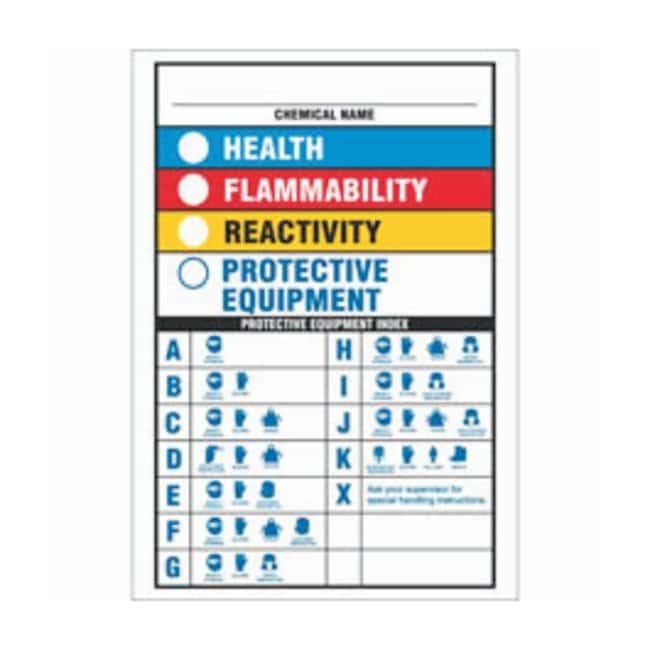 Brady Aluminum Danger Sign: CHEMICAL NAME: HEALTH FLAMMABILITY REACTIVITY