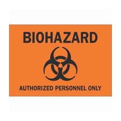SmartSign Biohazard Infectious Biological Material Label 7 x 10 Laminated Vinyl