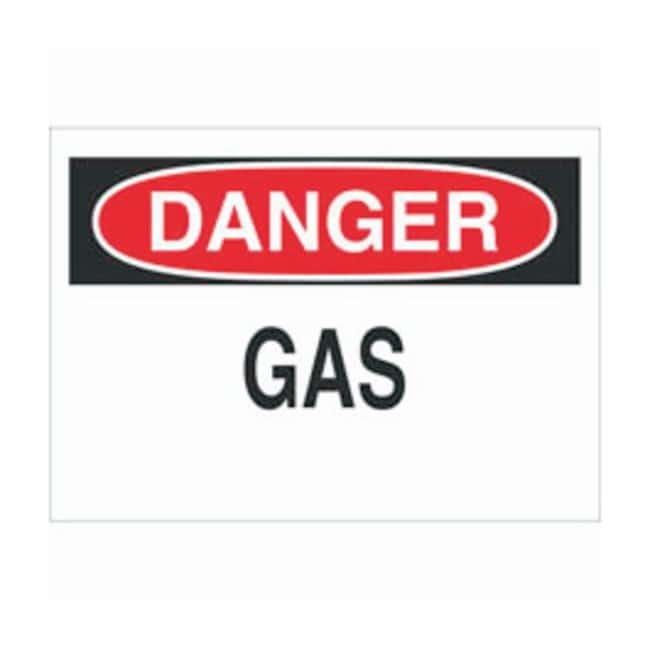 Brady Polyester Danger Sign: GAS Black/red on white; Cold temperature permanent