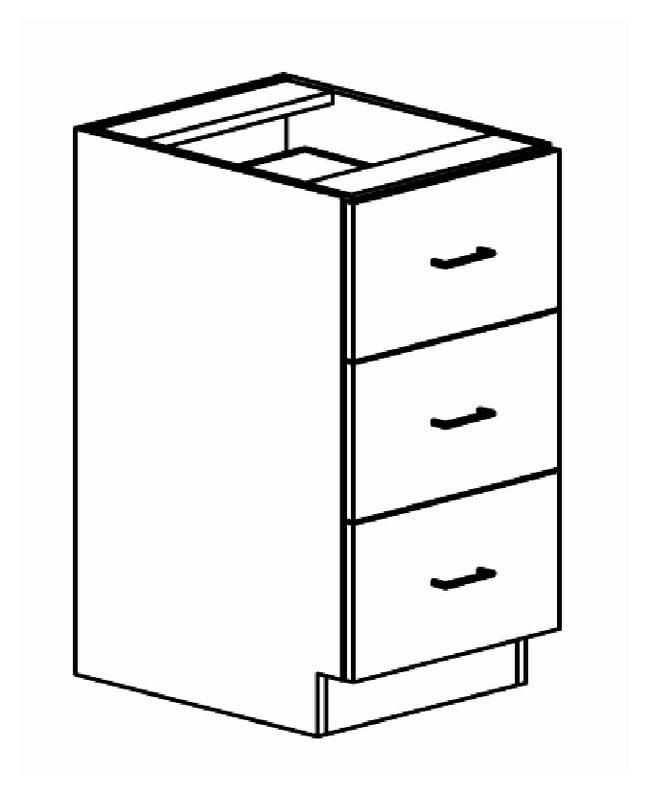 Brightline Casework Base Three Drawer Cabinet