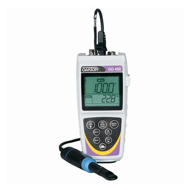 Oakton™ Waterproof DO 450 Portable Dissolved Oxygen Meter, DO 450 meter kit w/optical probe
